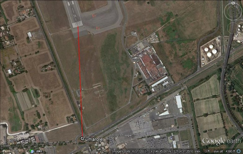 Volcanic Vents Near Rome Airport